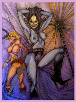 Topless Lady Skeletor